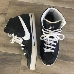 Men's Nike High Top Blazers Black White shoes 11